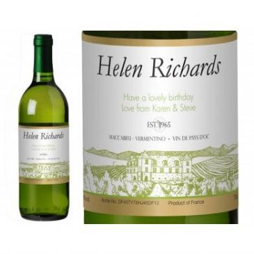 Vineyard Personalised White Wine